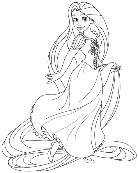 Coloring Rapunzel rapunzel coloring pages only coloring pages