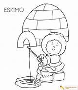 Igloo Coloring Eskimo Sheet Date sketch template