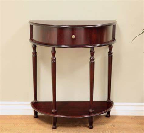 half circle console table with drawers half moon circle table round accent console foyer drawer