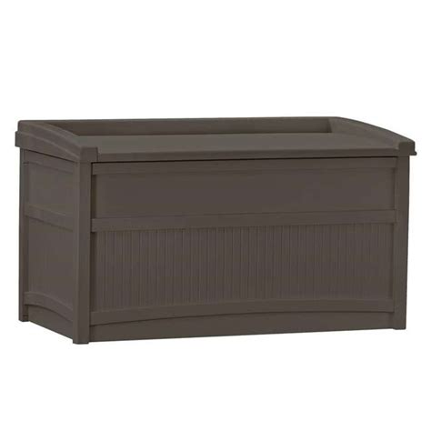 Suncast 50gallon Deck Box With Seat, Java Db5500j