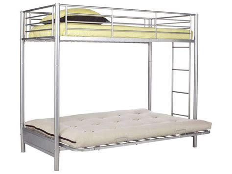 lit mezzanine avec banquette clic clac multibed coloris gris conforama malinshopper