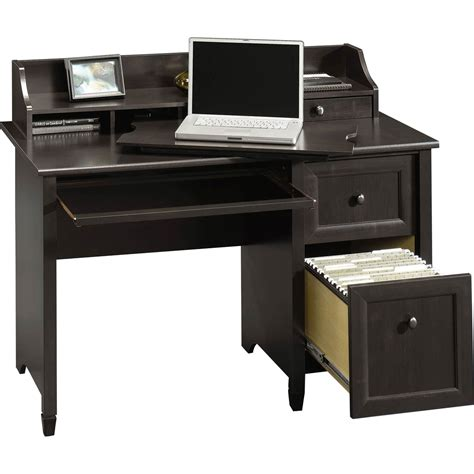 sauder edge water computer desk with hutch top desks