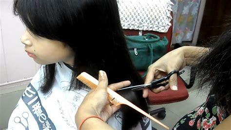 straight blunt haircut  prathysha small girl haircut