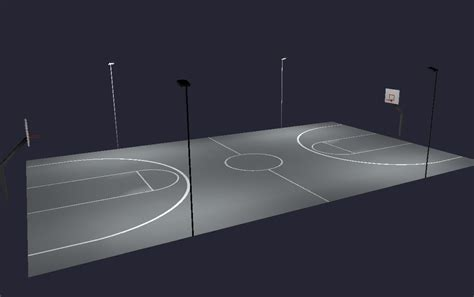 outdoor basketball led lighting court