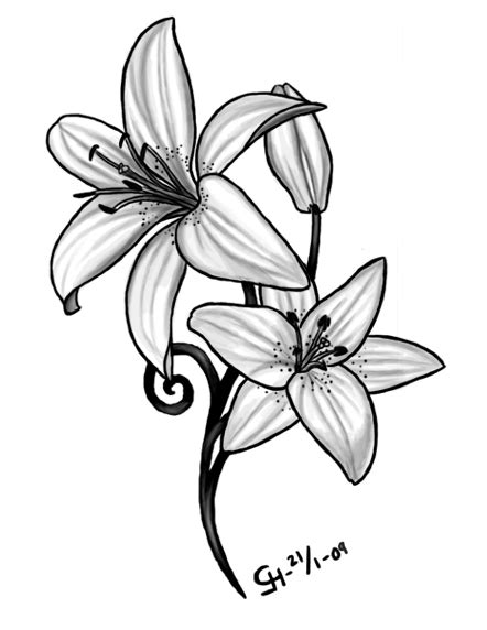 Lily Tattoo Meaning | Ideas | Images| Pictures