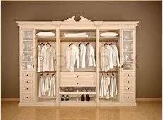 3d illustration of light classic wardrobe closet with