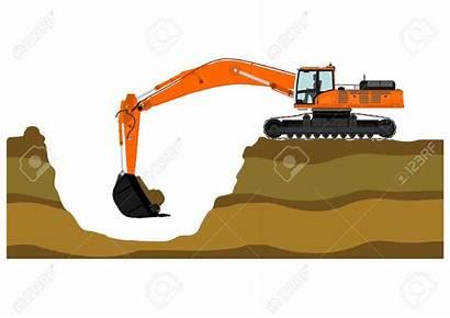 Excavator Clipart Tracks Cartoon Vector Heavy Clipground