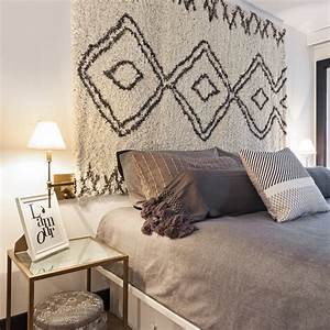 tapis en tete de lit chambre inspirations decoration With tapis de lit