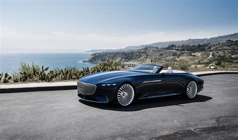 mercedes convertible vision mercedes maybach 6 cabriolet is 20 feet of electric
