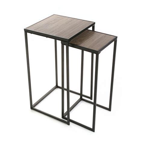 tableau memo cuisine design sellette carree metal noir et bois style industriel versa