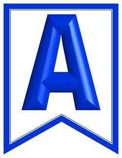 swallowtail printable alphabet banner letters royal bl