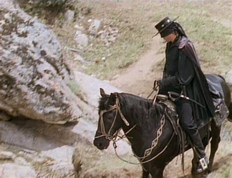 Zorro Riding His Horse Toronado.