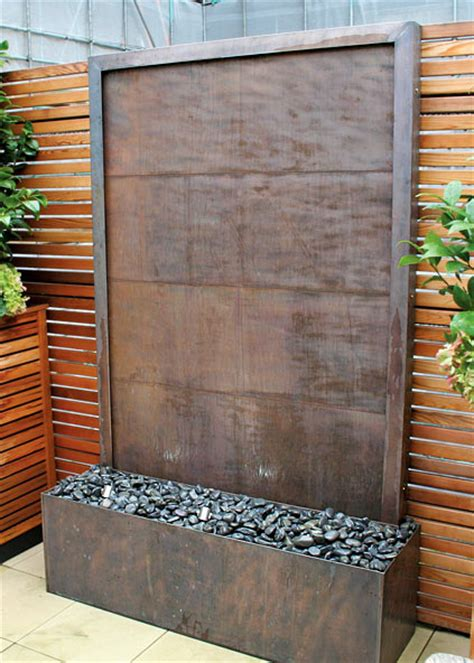 how to make a water wall feature decosee outdoor water wall