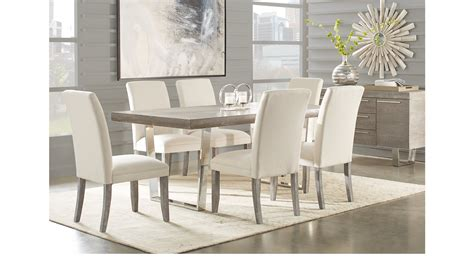 san francisco gray 5 pc dining room rectangle contemporary