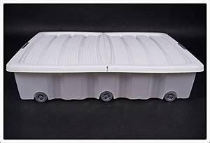 Box Unterm Bett : unterbettkommode mit rollen 40 oder 60 liter farbe wei 80 x 60 x 17 cm 60 liter ztirom ~ Whattoseeinmadrid.com Haus und Dekorationen