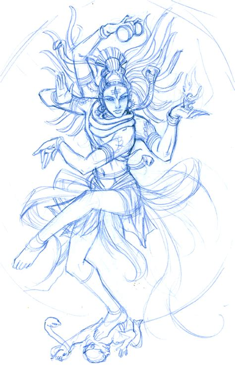 sketch shiva nataraja wip  ninjafaun  deviantart
