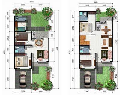 desain rumah minimalis type   denah