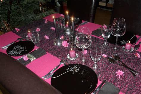 Idée Déco Table Rose Et Noir