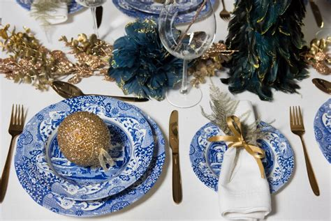 blue italian christmas teacupsandtales