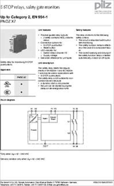 pnoz x7 24vac dc datasheet specifications coil voltage