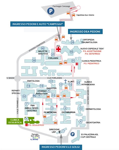 Ospedale San Matteo Pavia Oculistica by Dipartimenti E Unit 224 Operative Policlinico San Matteo