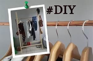 Portant Vetement Bois : video diy fabriquer un portant en bois et en cuivre pour de 30 delphine jory ~ Teatrodelosmanantiales.com Idées de Décoration