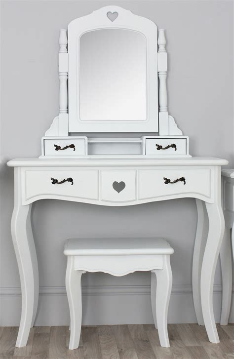 white desk with mirror vintage small white vanity desk with mirror and black