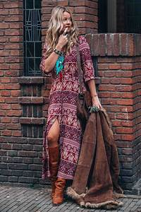 Mode Hippie Chic : bohemian maxi dress with print for the ultimate hippie ~ Voncanada.com Idées de Décoration