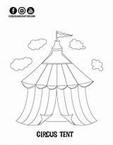 Circus Coloring Tent Printables Printable Getdrawings Imagination Exclusive Getcolorings Drawing Clown sketch template