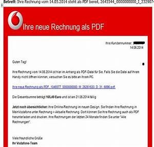 Gefälschte O2 Rechnung : achtung email vodafone telekom rechnung mit trojaner ~ Themetempest.com Abrechnung