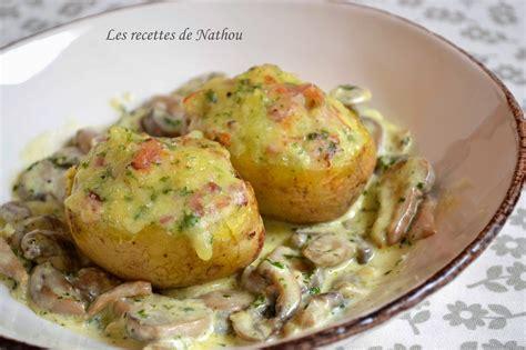 pommes de terre farcies au lard et reblochon chignons
