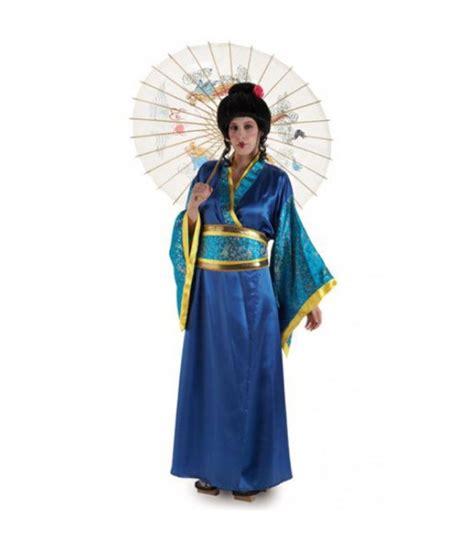 Disfraz de Geisha Azul para mujer Envío en 24h
