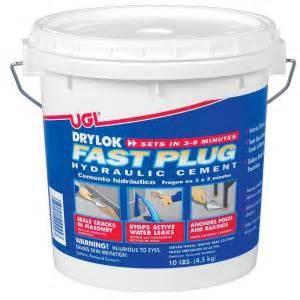 drylok fast plug 10 lb hydraulic cement 00924 the home