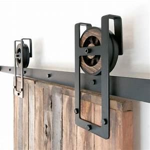 rustic industrial european square horseshoe sliding steel With commercial sliding door track