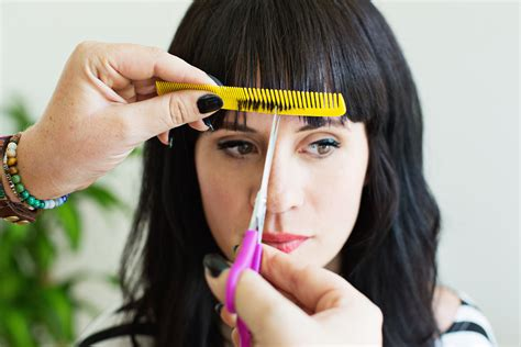 Cutting The Fringe tips for cutting your own bangs at home a beautiful mess
