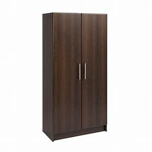 "Prepac Espresso Elite 32"" Storage Cabinet The Home Depot"