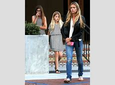 Denise Richards appears in a thoughtful mood after dinner