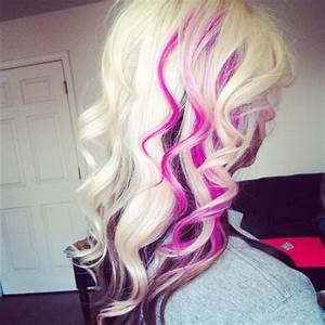 Blonde With Brown Pink Hair Long Hairstyles How To