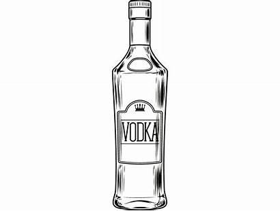 Bottle Vodka Alcohol Liquor Drink Bar Svg