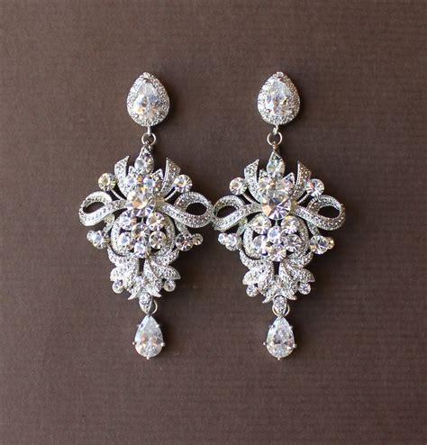 Wedding Earrings by Wedding Chandelier Earrings Bridal Earrings By