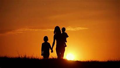 Mother Silhouettes Sunset Videoblocks Friendly Concept