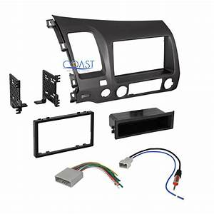 Car Radio Stereo Single Din Dash Kit Harness Antenna For