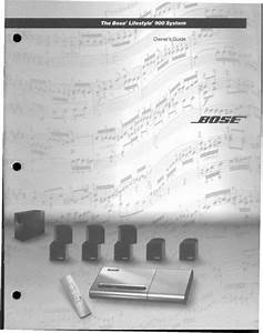 Bose Lifestyle 900 Music System Owners Manual Use Guide