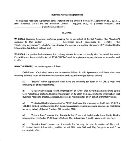 sample business associate agreement   documents