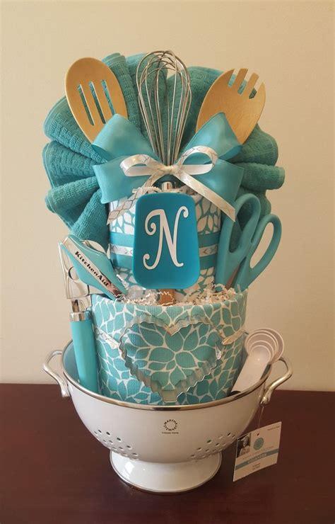 kitchen towel cake bridal shower centerpiece gift loaded