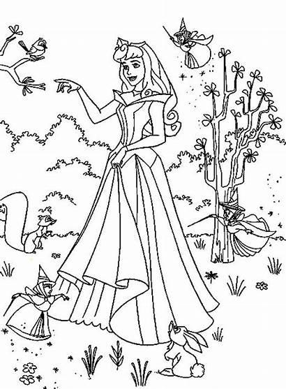 Coloring Princess Aurora Princesa Bela Desenhos Colorear