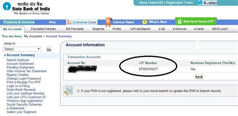 Number Full Form by What Is Cif How To Check Your Sbi Account Cif Number