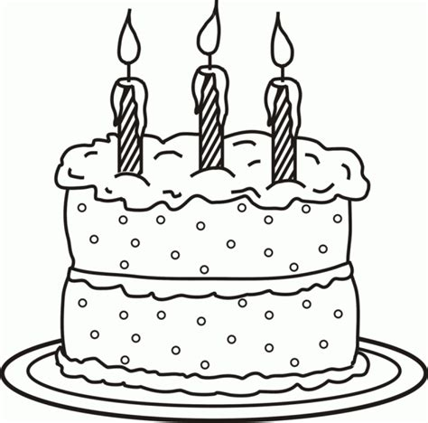 birthday cake coloring pages  print