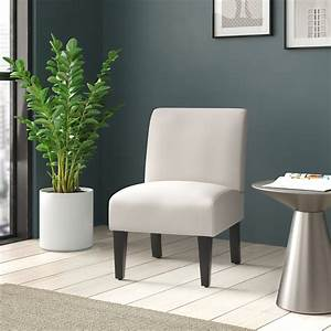 Belleze, Armless, Contemporary, Upholstered, Single, Curved, Slipper, Accent, Chair, Living, Room, Bedroom
