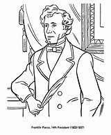 Coloring Pages Franklin Pierce Presidents President Printable Odyssey Sheets Usa Print Printables American Hatchet Man States United List Adventures Presidential sketch template